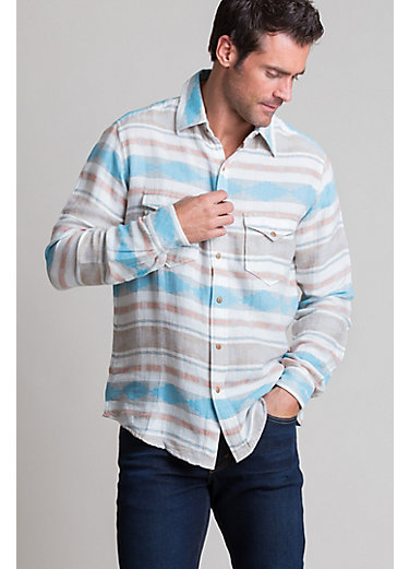 Ryan Michael Heather Blanket Cotton Shirt