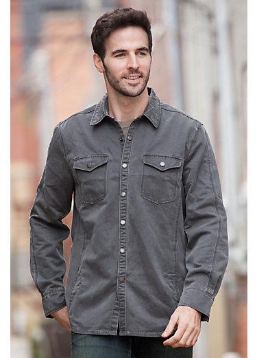 Jeremiah Colt Sueded Cotton-Blend Shirt