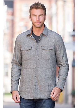 Jeremiah Gray Canvas Wool-Blend Shirt Jacket