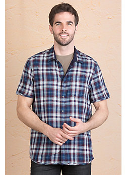 Jeremiah Colburn Reversible Cotton Gauze Shirt