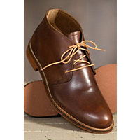 Mens Vintage Style Shoes| Retro Classic Shoes Mens J Shoes Monarch Leather Chukka Boots BRASS Size 9 $189.00 AT vintagedancer.com