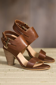 Women's J Shoes Karen Brown Leather Sandals
