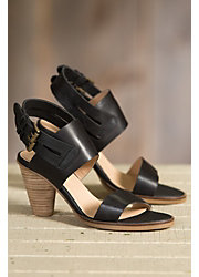 Women's J Shoes Karen Black Leather Sandals