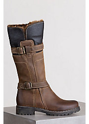 Women's Overland Adelyn Wool-Lined Leather Boots with Shearling Trim