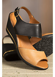 Women's Overland Florina Leather Wedge Sandals