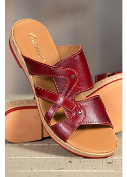 Women's Overland Wendy Leather Slide Sandals