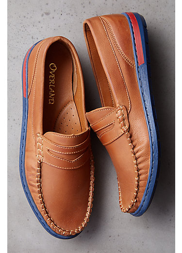 Men's Overland Leather Moccasin Shoes