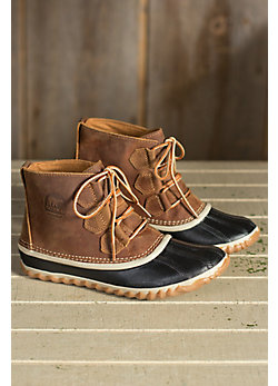 Women's Sorel Out 'N' About Waterproof Leather Ankle Boots