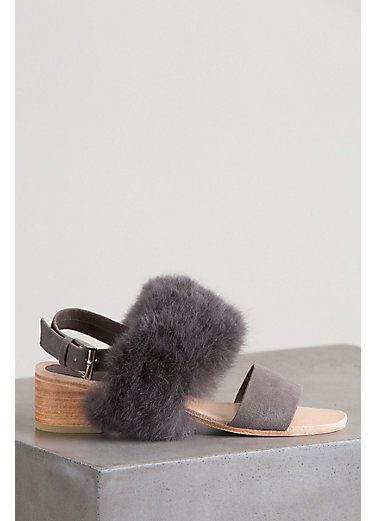 Women's Huma Blanco Clemence 2.0 Alpaca and Calfskin Suede Sandals
