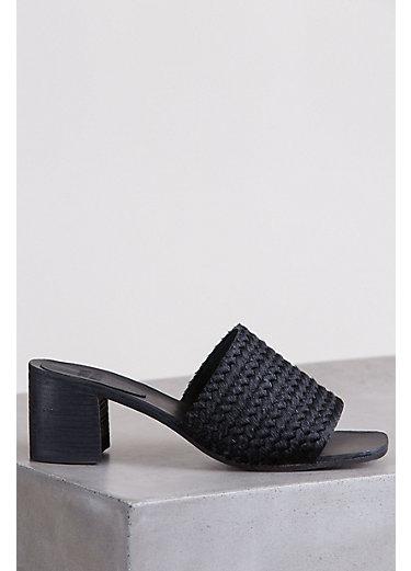 Women's Huma Blanco America Calfskin Leather Slide Sandals