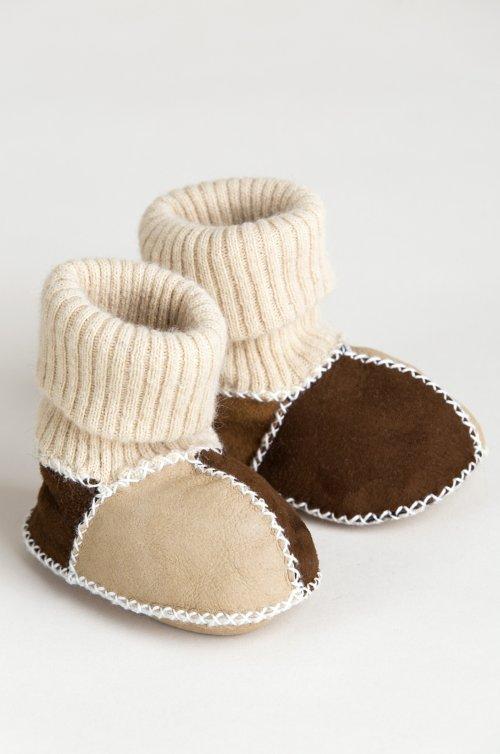 Children's Sheepskin Slipper Booties