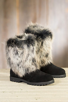 Women's Overland Neve Shearling Sheepskin Boots with Fox Fur Trim