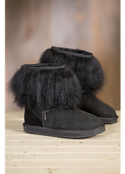 Women's Overland Roxanne Sheepskin Boots with Tibetan Wool Trim