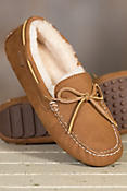 Women's Overland Eleanor Shearling-Lined Suede Moccasin Slippers
