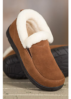 Women's Overland Harper Shearling-Lined Suede Slipper Shoes