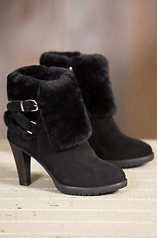 Women's Overland Amber Shearling-Lined Suede Boots