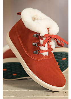 Women's Overland Ruby Shearling-Lined Suede Hi Top Shoes