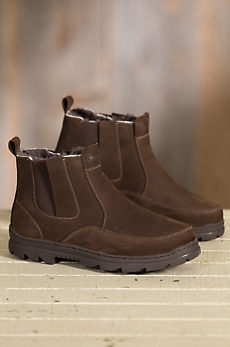 Men's Overland Jacob Shearling-Lined Suede Boots
