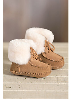 Infant & Toddler Soft-Soled Sheepskin Slipper Booties