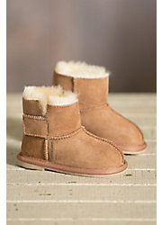 Infant & Toddler Sheepskin Slipper Booties