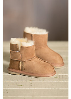 Children's Sheepskin Slipper Booties