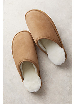 Men's Overland Noah Shearling-Lined Suede Slippers