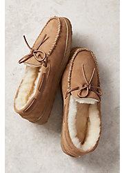 Men's Overland Sydney Sheepskin Moccasin Slippers