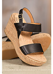 Women's Kork-Ease Austin Leather Wedge Sandals