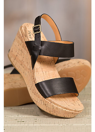 Women's Kork-Ease Austin Leather Wedge Sandals