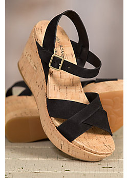 Women's Kork-Ease Ava 2.0 Suede Leather Wedge Sandals