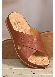 Women's Kork-Ease Amboy Leather Slide Sandals