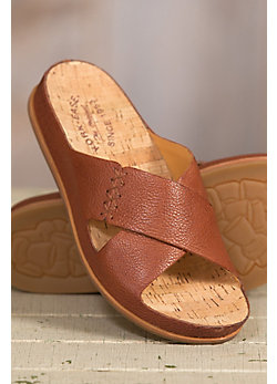 Women's Kork-Ease Amboy Leather Slide Sandals