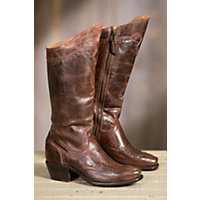 1940s Womens Footwear Womens Sonora Shelli Tall Leather Boots BROWN Size 10 $235.00 AT vintagedancer.com