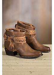 Women's Sonora Randi Leather Ankle Cowboy Boots