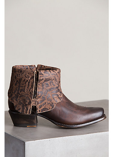 Women's Overland Cora Leather Ankle Cowboy Boots
