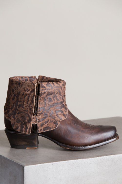 Women's Cora Leather Ankle Cowboy Boots