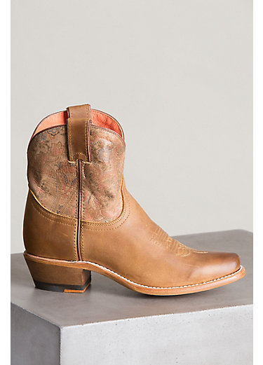 Women's Overland Bailey Leather Ankle Cowboy Boots