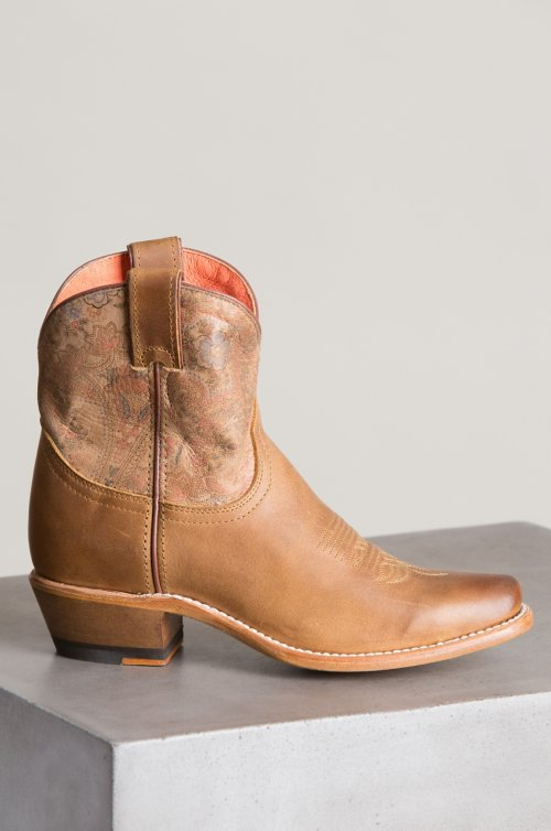 Women's Bailey Leather Ankle Cowboy Boots