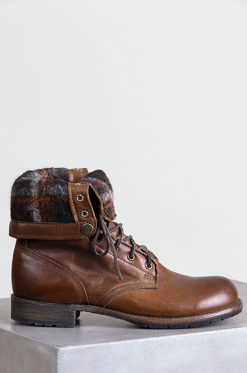 's Walk-Over Ian Fold-Over Leather Jump Boots | Overland