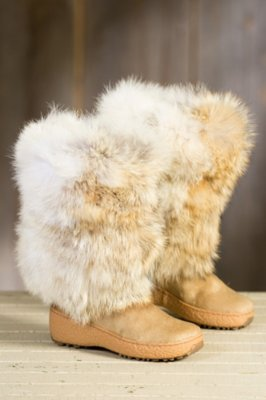 Women's Stratton Wool-Lined Coyote Fur and Calfskin Boots