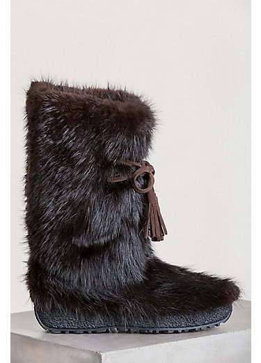 Men's Maiers Wool-Lined Beaver Fur Boots