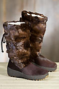 Women's Visone Shearling-Lined Mink Fur and Calfskin Boots