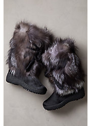 Women's Gigi Shearling-Lined Fox Fur and Calfskin Boots