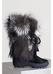Women's Gigi Shearling-Lined Fox Fur and Calfskin Boots