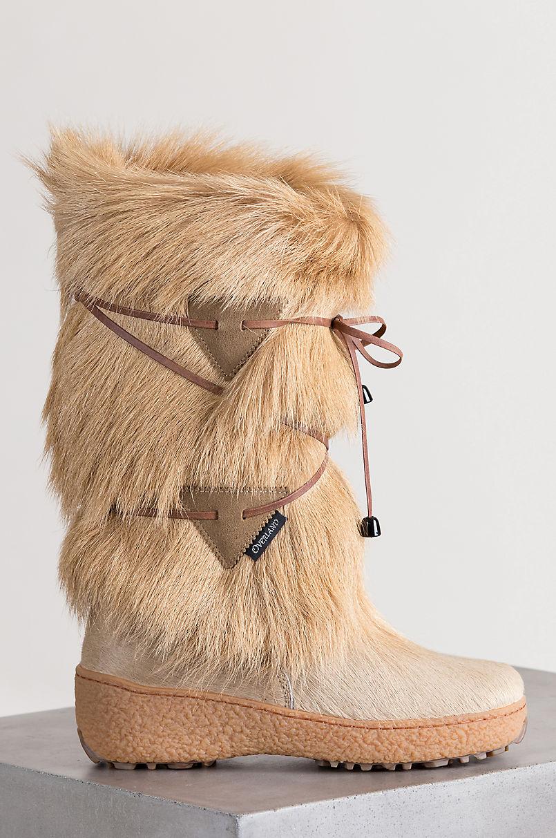 7e424fdf2443 Women s Anna Wool-Lined Goat Fur and Calfskin Boots