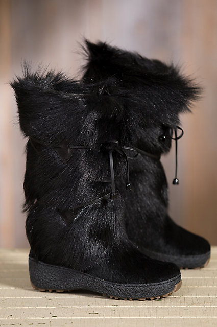 Women's Anna Shearling-Lined Goat Fur and Calfskin Boots | Overland