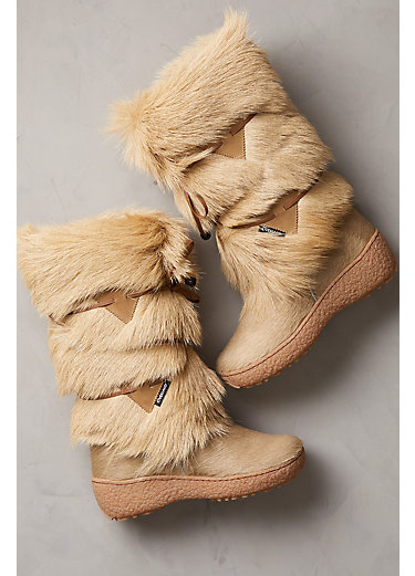 Women's Anna Wool-Lined Goat Fur and Calfskin Boots