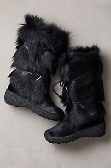 Women's Anna Shearling-Lined Goat Fur and Calfskin Boots