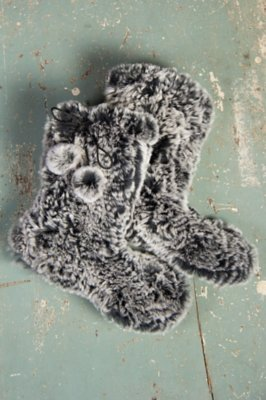 Women's Knitted Rabbit Fur Slippers