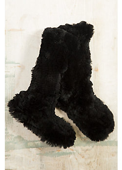 Knitted Rabbit Fur Slipper Socks